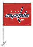 NHL Washington Capitals Car Flag with Wall Bracket Novelty