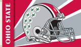 NCAA Ohio State Buckeyes Helmet Flag with Grommets Flag