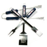 MLB Detroit Tigers Four Piece Stainless Steel BBQ Set Novelty