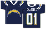 NFL San Diego Chargers 2-Sided Jersey Banner Flag