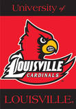 NCAA Louisville Cardinals 2-Sided House Banner Flag