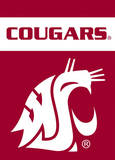NCAA Washington State Cougars 2-Sided Garden Flag Flag