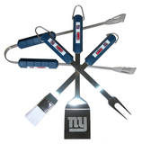NFL New York Giants Four Piece Stainless Steel BBQ Set BBQ Grill Set