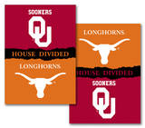 NCAA Oklahoma - Texas 2-Sided House Divided Rivalry Banner Flag