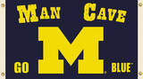 NCAA Michigan Wolverines Man Cave Flag with Grommets Novelty