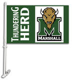NCAA Marshall Thundering Herd Car Flag with Wall Bracket Novelty