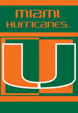 NCAA Miami Hurricanes 2-Sided House Banner Flag