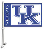 NCAA Kentucky Wildcats Car Flag with Wall Bracket Flag