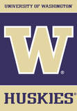 NCAA Washington Huskies 2-Sided House Banner Flag