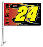 Nascar Jeff Gordon 24 Car Flag with Wall Bracket Novelty