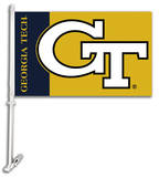 NCAA Georgia Tech Yellow Jackets Car Flag with Wall Bracket Flag
