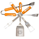 MLB New York Mets Four Piece Stainless Steel BBQ Set Novelty