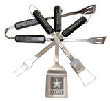 U.S. Army Four Piece Stainless Steel BBQ Set BBQ Grill Set