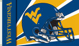 NCAA West Virginia Mountaineers Helmet Flag with Grommets Flag