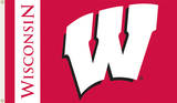 NCAA Wisconsin Badgers Flag with Grommets Novelty
