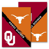 NCAA Oklahoma - Texas 2-Sided House Divided Rivalry Garden Flag Novelty