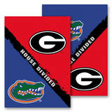 NCAA Georgia - Florida 2-Sided House Divided Rivalry Garden Flag Flag