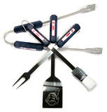 MLB Cleveland Indians Four Piece Stainless Steel BBQ Set Novelty
