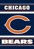 NFL Chicago Bears 2-Sided House Banner Flag