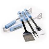 NCAA North Carolina Tar Heels Four Piece Stainless Steel BBQ Set BBQ Grill Set