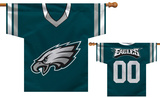 NFL Philadelphia Eagles 2-Sided Jersey Banner Flag