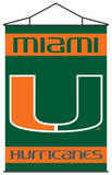 NCAA Miami Hurricanes Indoor Banner Scroll Wall Scroll