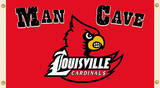 NCAA Louisville Cardinals Man Cave Flag with Grommets Novelty