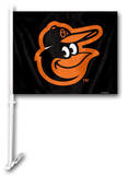 MLB Baltimore Orioles Car Flag with Wall Bracket Flag