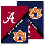 NCAA Alabama - Auburn 2-Sided House Divided Rivalry Garden Flag Flag