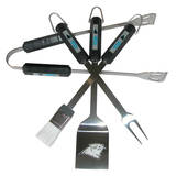 NFL Carolina Panthers Four Piece Stainless Steel BBQ Set BBQ Grill Set