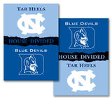 NCAA N. Carolina - Duke 2-Sided House Divided Rivalry Banner Flag