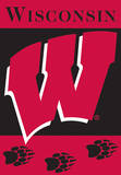 NCAA Wisconsin Badgers 2-Sided House Banner Flag