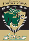 NCAA South Florida Bulls 2-Sided House Banner Wall Scroll
