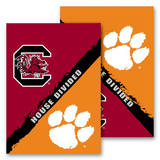 NCAA Clemson - S. Carolina 2-Sided House Divided Rivalry Garden Flag Flag