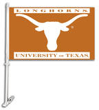 NCAA Texas Longhorns Car Flag with Wall Bracket Flag