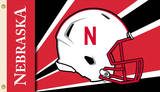 NCAA Nebraska Huskers Helmet Flag with Grommets Flag