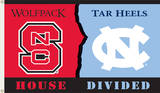 NCAA North Carolina - NC State Rivarly House Divided Flag with Grommets Flag