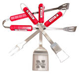 NCAA Nebraska Cornhuskers Four Piece Stainless Steel BBQ Set BBQ Grill Set