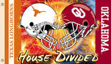 NCAA Oklahoma - Texas House Divided Rivarly Helmet Flag with Grommets Flag