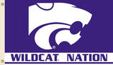 NCAA Kansas State Wildcats Flag with Grommets Flag