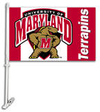 NCAA Maryland Terrapins Car Flag with Wall Bracket Flag