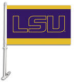 NCAA Louisiana State Tigers Car Flag with Wall Bracket Flag