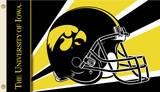NCAA Iowa Hawkeyes Helmet Flag with Grommets Novelty