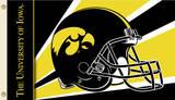 NCAA Iowa Hawkeyes Helmet Flag with Grommets Flag
