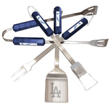 MLB Los Angeles Dodgers Four Piece Stainless Steel BBQ Set BBQ Grill Set