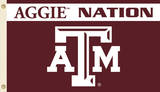 NCAA Texas A&M Aggies Flag with Grommets Bandera