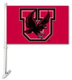 NCAA Utah Utes Car Flag with Wall Bracket Flag