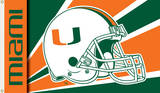 NCAA Miami Hurricanes Helmet Flag with Grommets Flag
