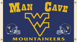 NCAA West Virginia Mountaineers Man Cave Flag with Grommets Flag