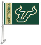 NCAA South Florida Car Flag with Wall Bracket Flag